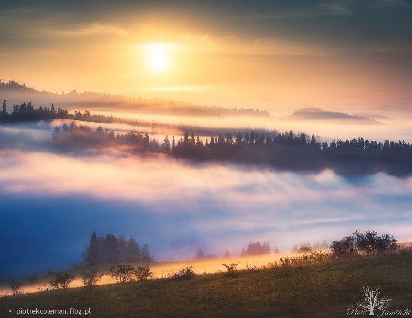 Pieniński wschód słońca...