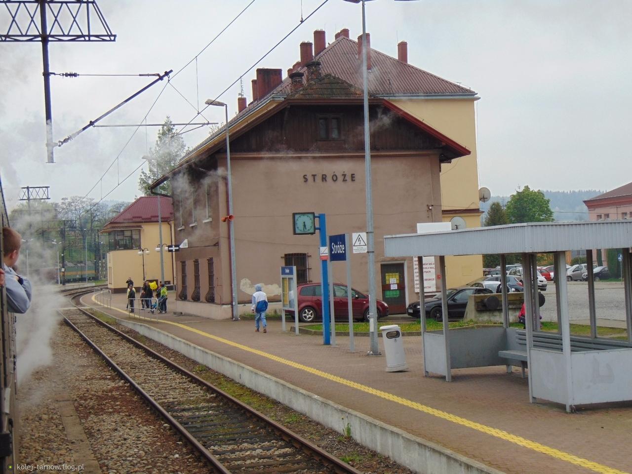 Dworzec kolejowy w Stróżach