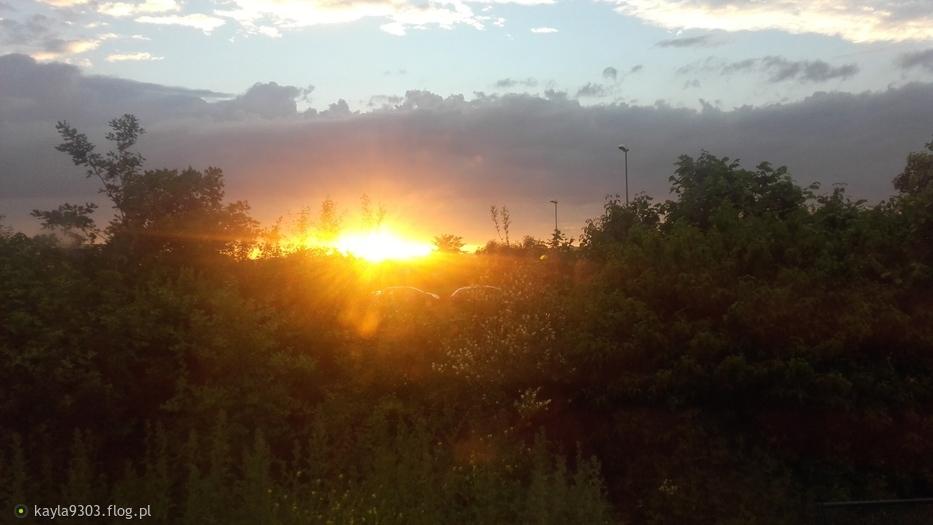 zachód słońca po Niemieckiej stronie!!😊