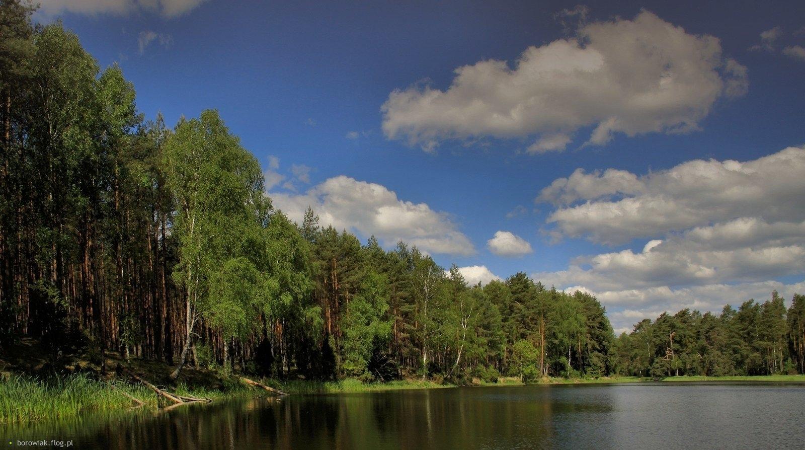 Jezioro Duk na trasie Małego Kanału Brdy...
