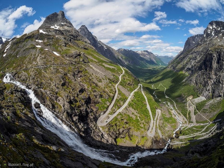 Norwegia. Droga Troli.