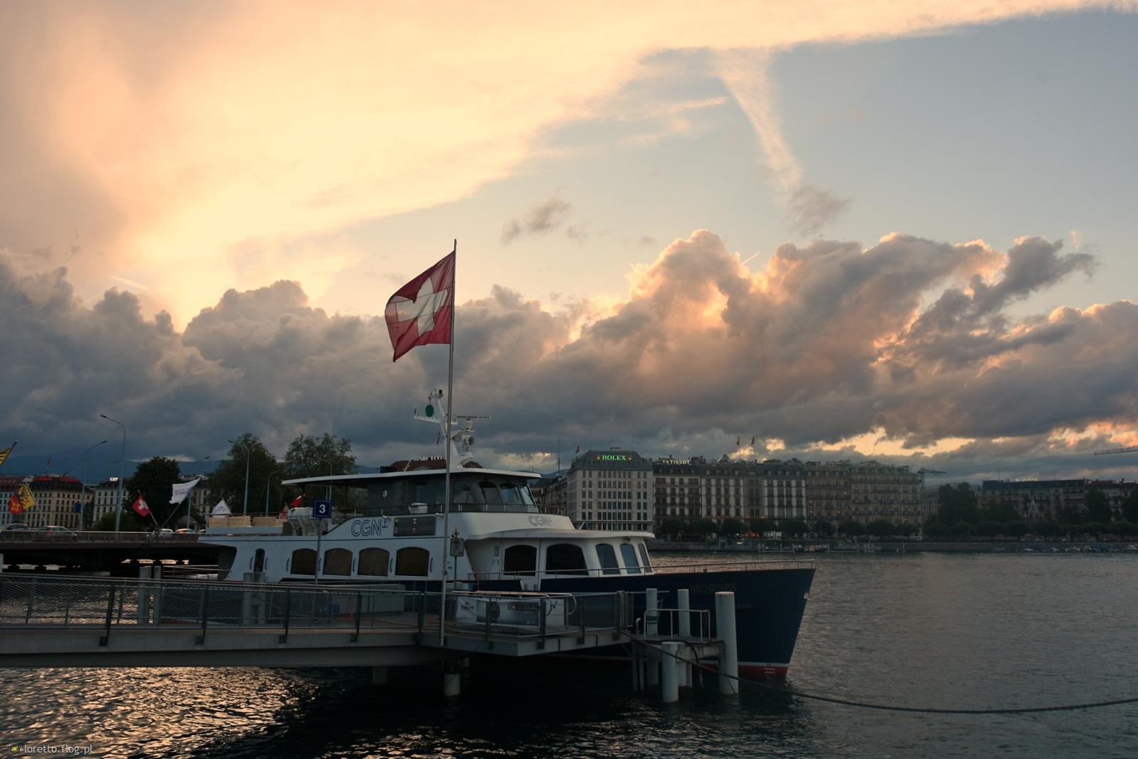 wieczorny  spacer  nad  Jeziorem Genewskim