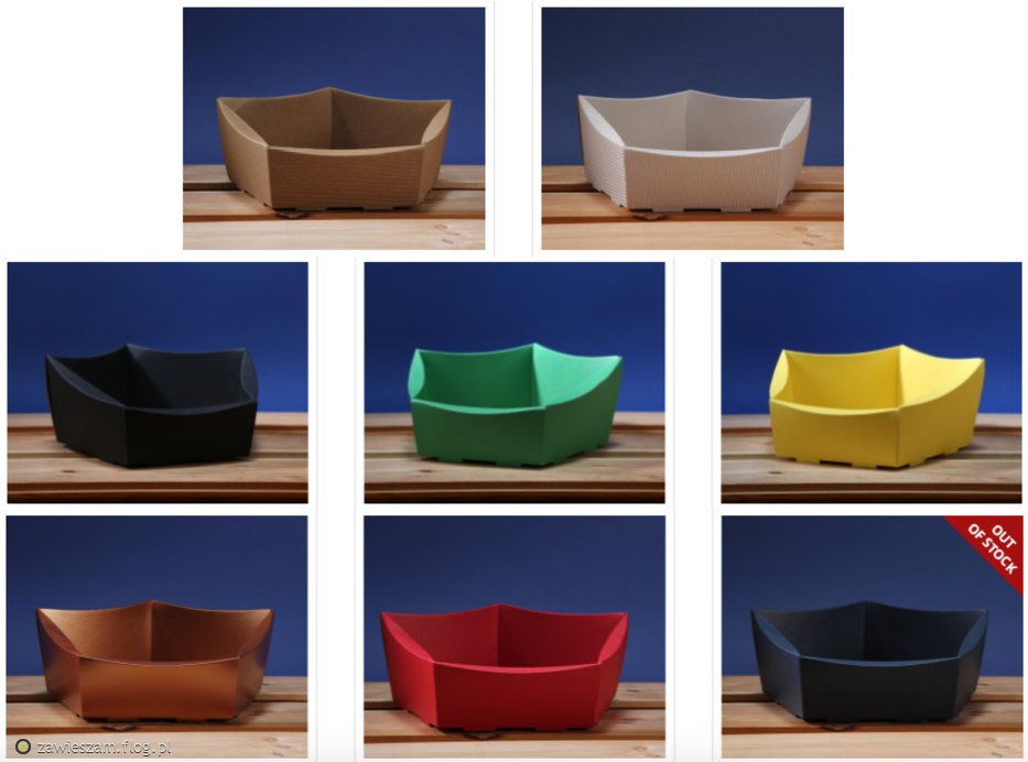 Hexagonal, square, rectangular Corrugated Cardboard Gift Baskets