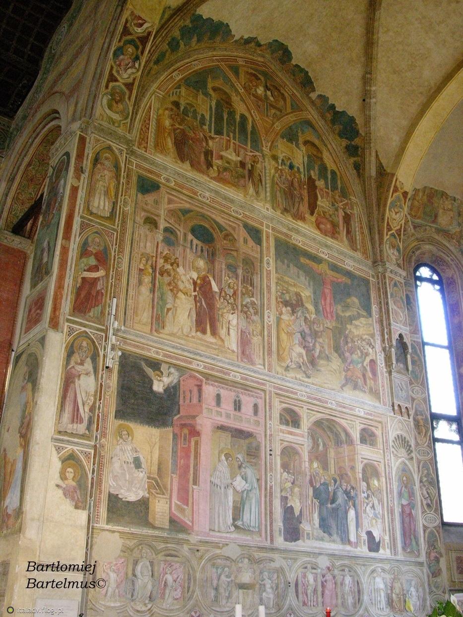 Padova, Chiesa degli Eremitani (Santi Filippo e Giacomo), Affreschi nella Cappella Maggiore, 1361-1365, 14.08.2009.