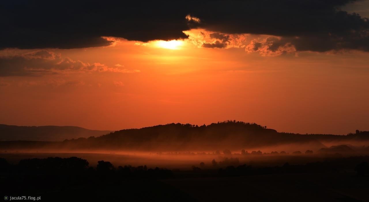 Zachód słońca na Grzybowcu