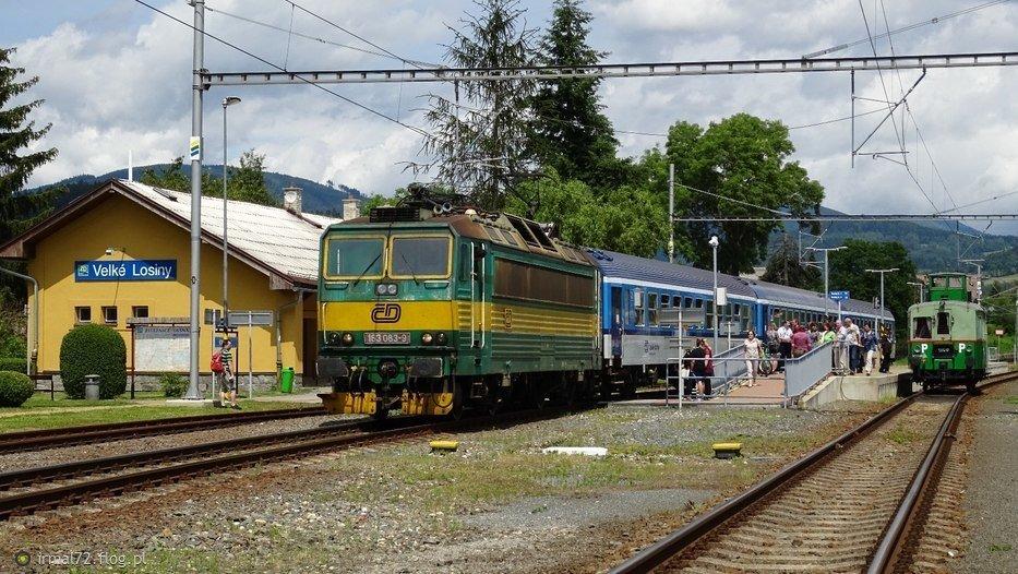 "Skoda 163 i M120 ""vezak"" na stacji Velke Losiny"
