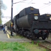 Ty42-107 :: Ty42-107 z pociągiem retr<br />o relacji Biecz - Gorlice<br /> - Nowy Sącz oczekuje na <br />odjazd w powrotną stro