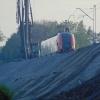 EN64-003 :: EN64-003 relacji Rzeszów Główny - Kraków Główny zbliża się do stacji w Tarnowie.