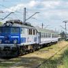 EU07-325 :: Siódemka z długaśnym skła<br />dem pociągu Jagiełło, rel<br />acji Kraków Główny Lublin<br />, z niewiadomeg