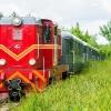 Lxd2-342 :: Rumun z pociągiem retro, <br />relacji Tułowice Sochacze<br />w wjeżdża na przejazd kol<br />ejowy ulicy Korczaka.