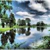 Nad wodą...... ::  w ramy zieleni wziętą ba<br />rwą błękitu malowaną wodą<br /> dla życia światu daną cz<br />cimy Natury dum