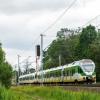 ER75-006 :: Duet Flirtów, jako pociąg<br /> KM linii R2, minął semaf<br />or wjazdowy stacji Mrozy.<br />   24.06.2017 r. Mroz