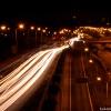 Katowice nocą... :: Katowice nocą... Most nad trasą DTŚ przy NOSPR.