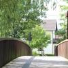 Mostek na rz. Prims :: Jeden z trzech drewnianyc<br />h, są jeszcze dwa drogowe<br /> w tej miejscowości.
