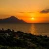 Wschód słońca Chalkidiki