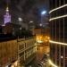 Warszawa by night :: Warszawa nocą widziana z <br />okna apartamentowca na ul<br />icy Zgoda